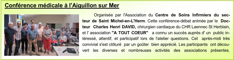Conférence médiacle à l'Aiguillon sur Mer