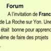 Forum à La Roche sur Yon
