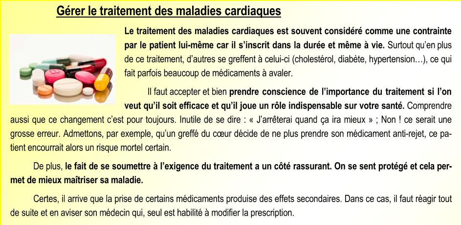 Gérer le traitement des maladies cardiaques 1