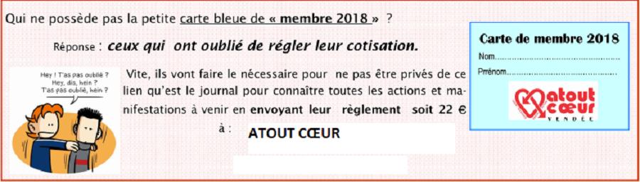 Carte membre 2018