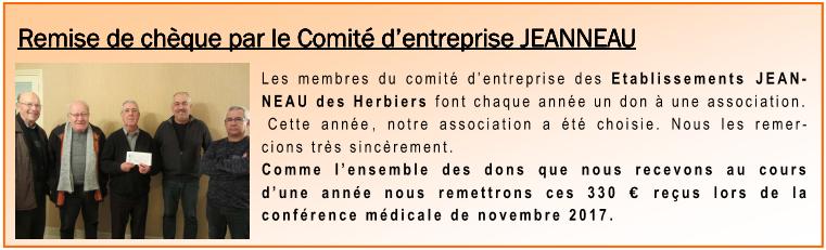 Remise chèque CE Jeanneau