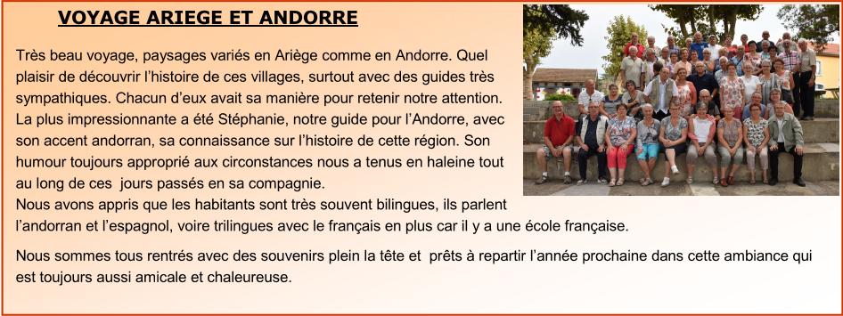 Voyage Ariège et Andorre