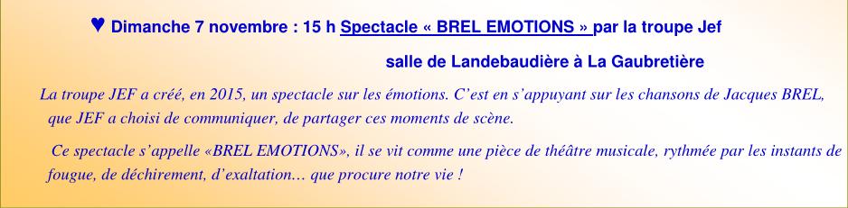 Brel emotions
